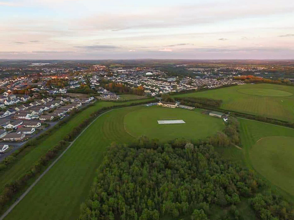 Drone photo of Cricket Club and pitch