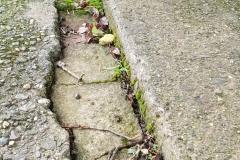 Gap in path
