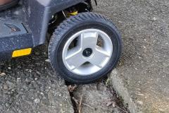 Motorised wheelchair trap